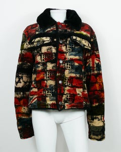 Jean Paul Gaultier Vintage Wall and Flags Print Jacket