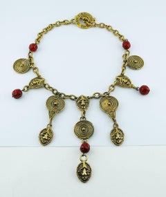 Guy Laroche Vintage African Inspired Necklace