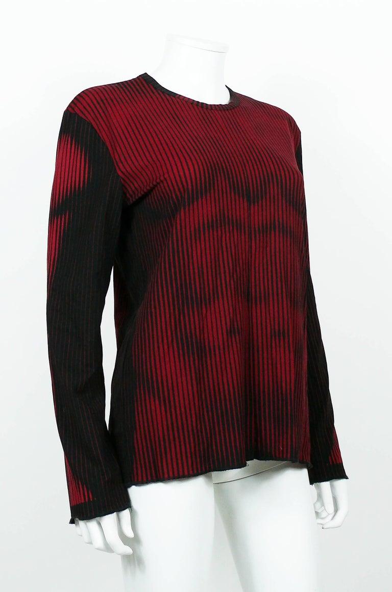 Jean Paul Gaultier Mens Iconic Vintage Red Black Op Art