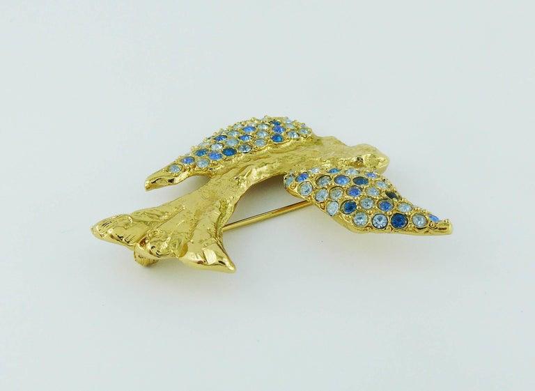 Yves Saint Laurent YSL Vintage Jewelled Bird Motif Brooch 5