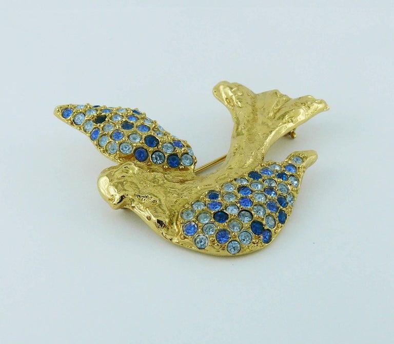 Yves Saint Laurent YSL Vintage Jewelled Bird Motif Brooch 4