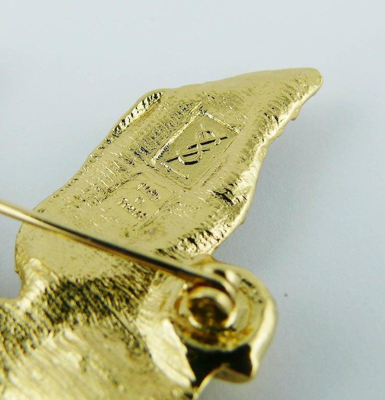 Yves Saint Laurent YSL Vintage Jewelled Bird Motif Brooch 7