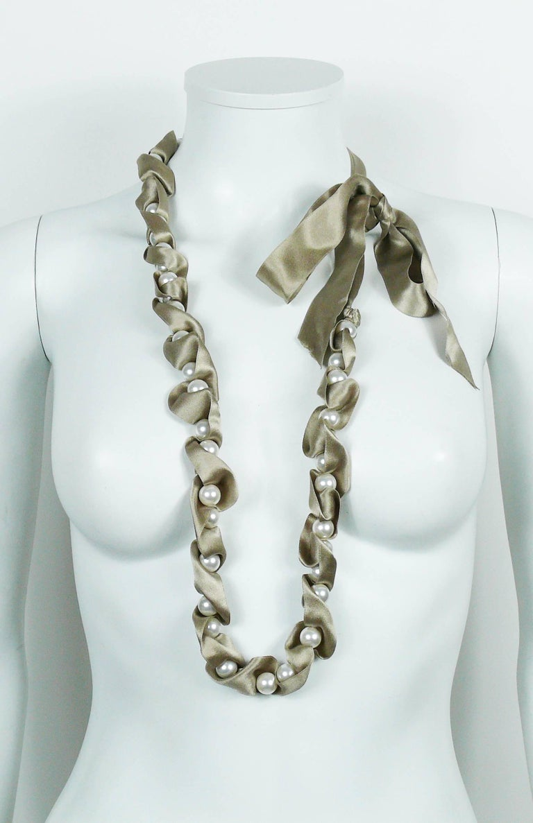 choker satin easy necklaces by to necklace do projects diy ribbon crafts samira style step me