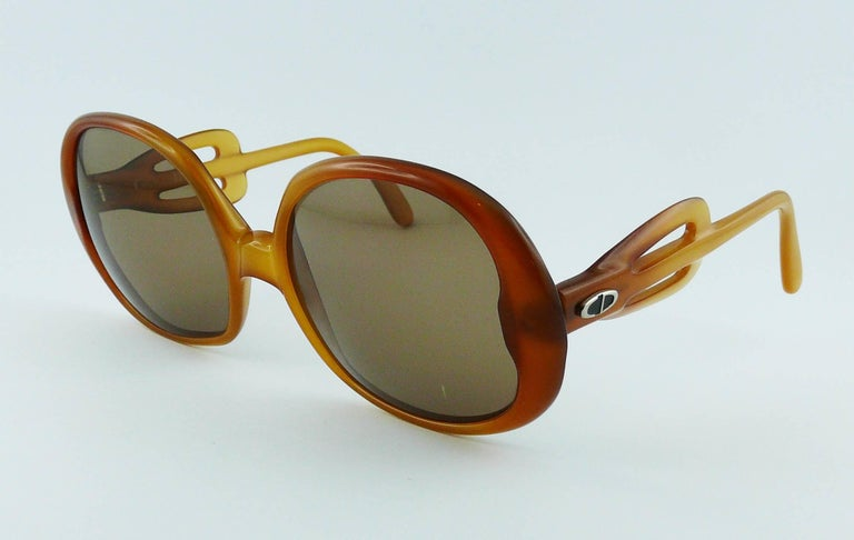 Gray Christian Dior Vintage Sunglasses For Sale