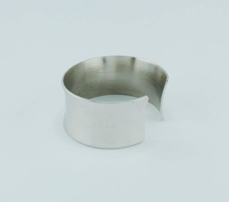 34f93afe5ea Yves Saint Laurent YSL Vintage Sterling Silver Cuff Bracelet For Sale 2