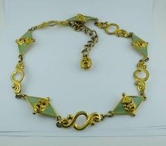 Gianni Versace Vintage Ancient Tragedy Masks Belt