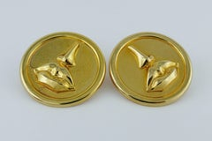 Salvador Dali Parfums Vintage Massive Mouth and Nose Clip-On Earrings