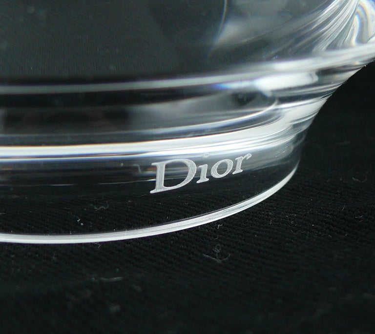 Christian Dior Clear Lucite Cuff and Bangle Bracelets Set For Sale 3