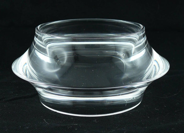 Christian Dior Clear Lucite Cuff and Bangle Bracelets Set In Good Condition For Sale In Nice, FR