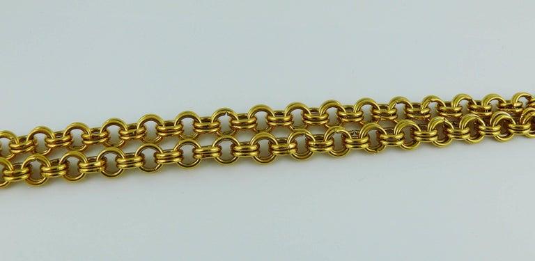 Christian Lacroix Vintage Massive Jewelled Cross Pendant Necklace For Sale 2