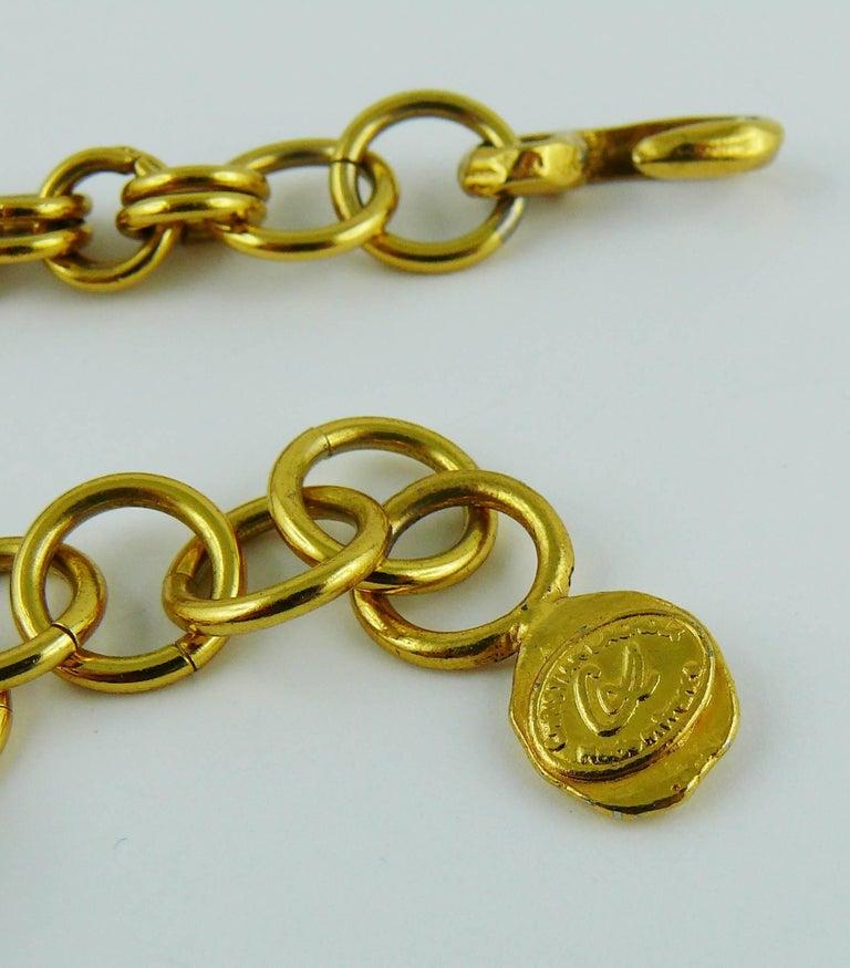 Christian Lacroix Vintage Massive Jewelled Cross Pendant Necklace For Sale 6