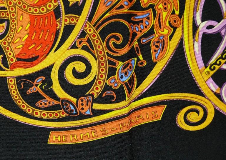 Hermes Vintage Silk Carre Scarf