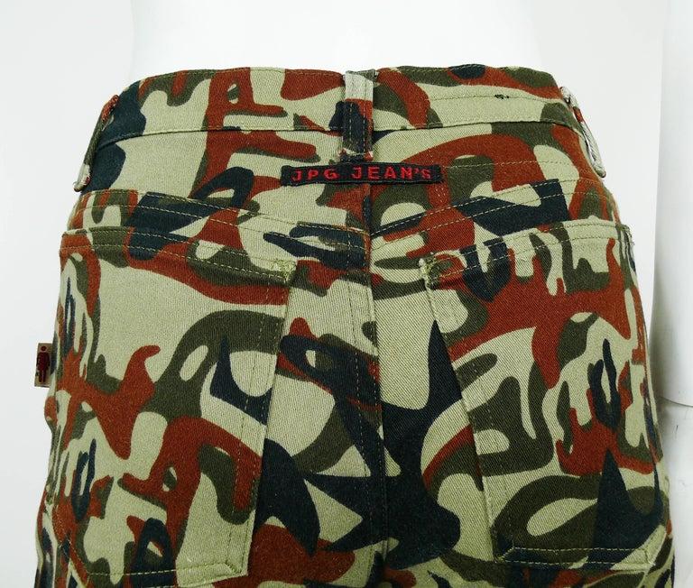 Jean Paul Gaultier Vintage Camouflage Faces Pants Trousers For Sale 4