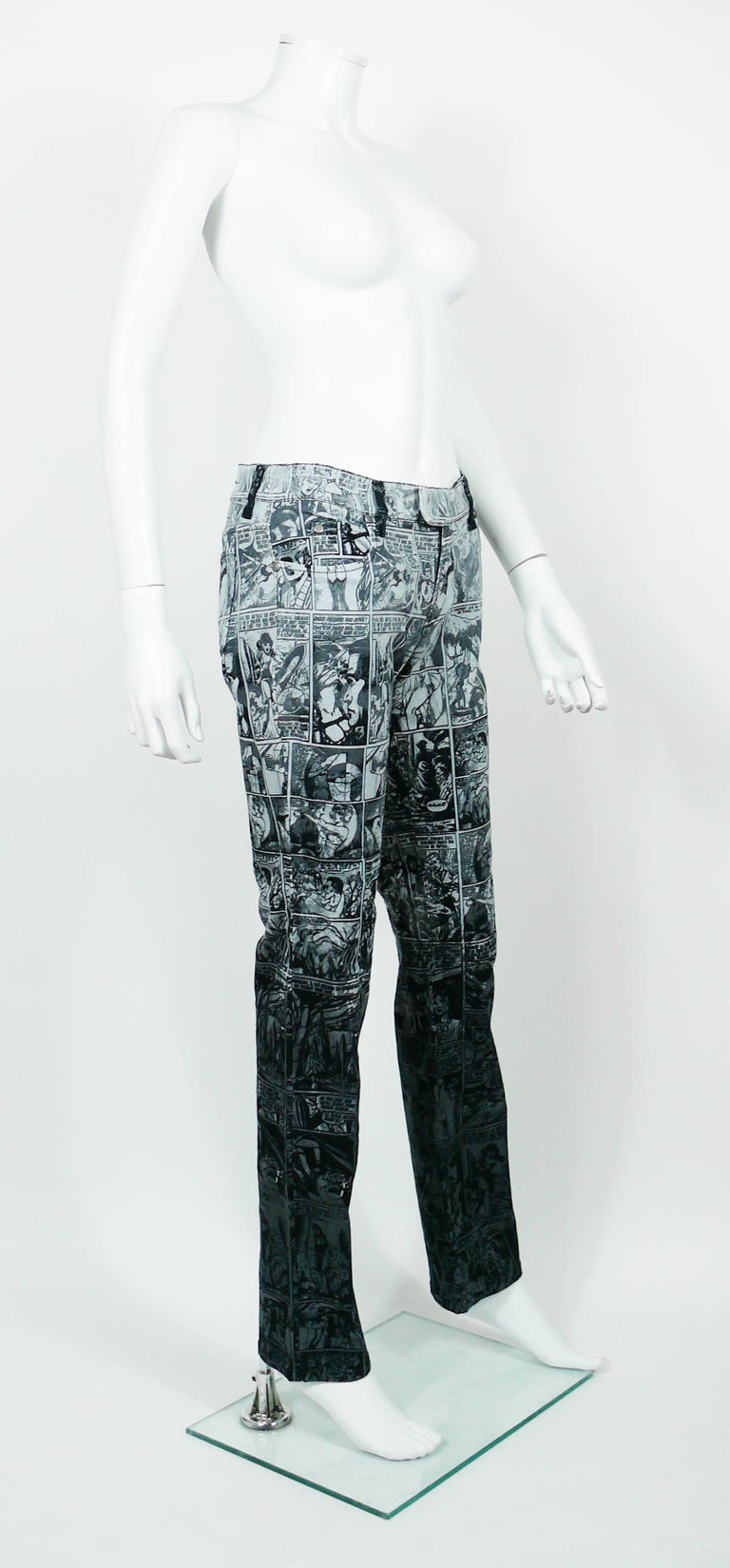 JEAN PAUL GAULTIER vintage pants trousers featuring an opulent black and grey