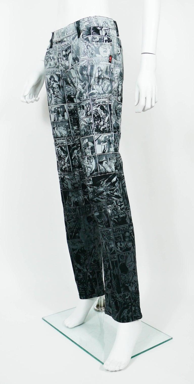Jean Paul Gaultier Comic Cartoon Print Pants Trousers  For Sale 1