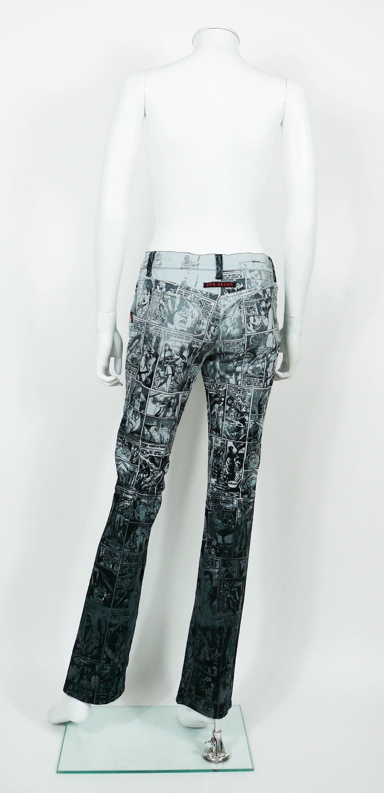 Jean Paul Gaultier Comic Cartoon Print Pants Trousers  For Sale 3