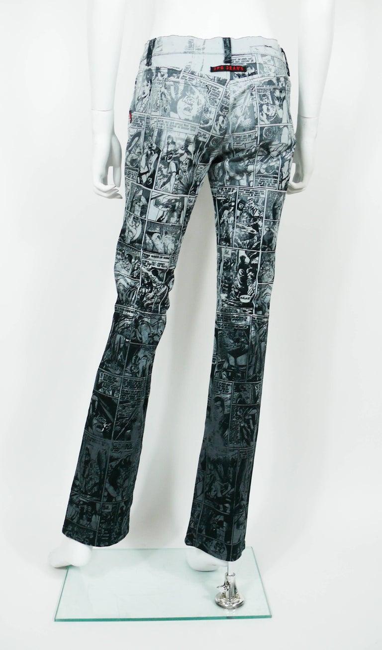Jean Paul Gaultier Comic Cartoon Print Pants Trousers  For Sale 4