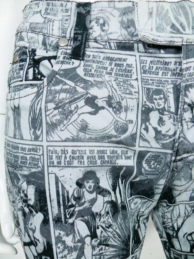 Women's Jean Paul Gaultier Comic Cartoon Print Pants Trousers  For Sale