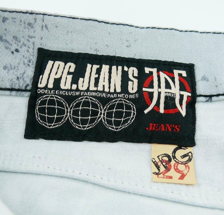 Jean Paul Gaultier Comic Cartoon Print Pants Trousers  For Sale 7
