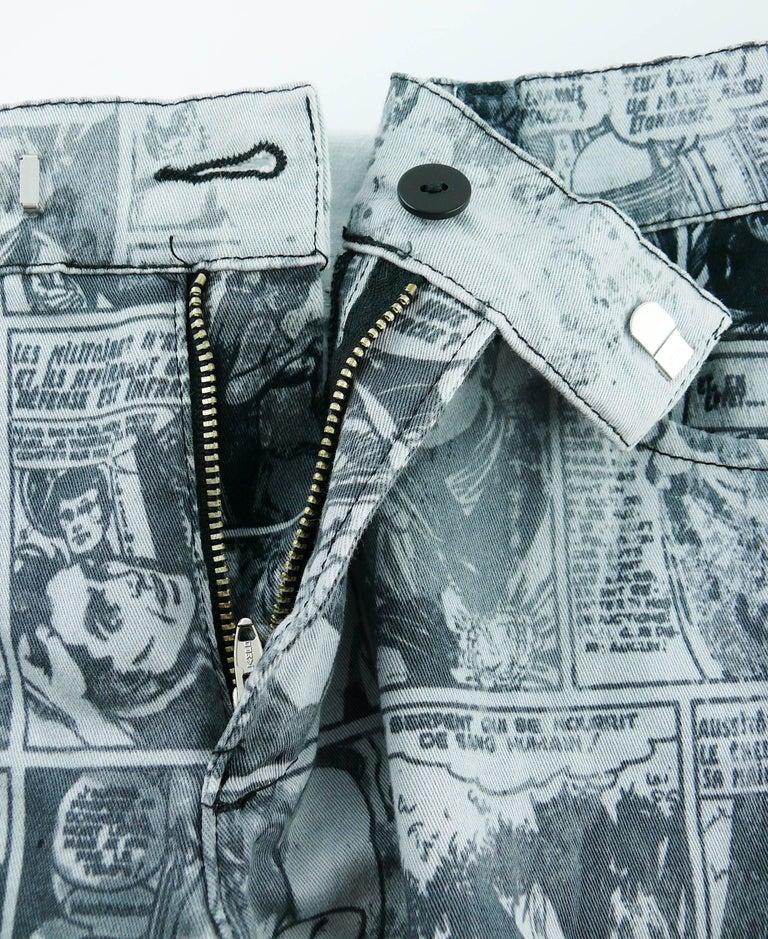 Jean Paul Gaultier Comic Cartoon Print Pants Trousers  For Sale 6