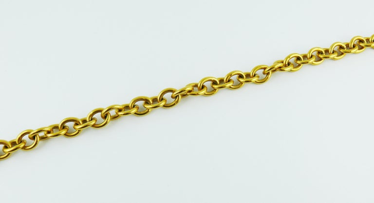 Sonia Rykiel Vintage Gold Toned Chain Belt Necklace with Profile Charms For Sale 6