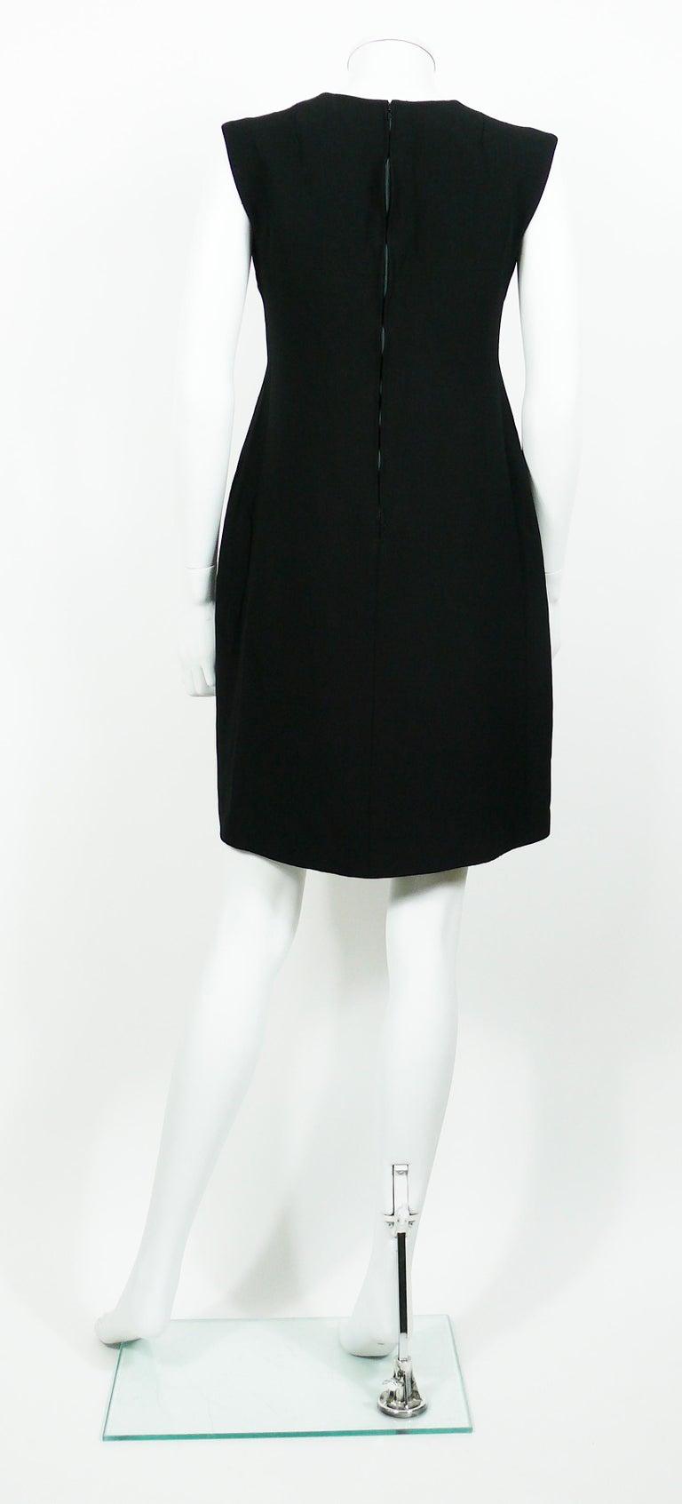 e0c4bf7aac3 Pierre Cardin Vintage Space Age Cut Out Circle Little Black Dress For Sale 1