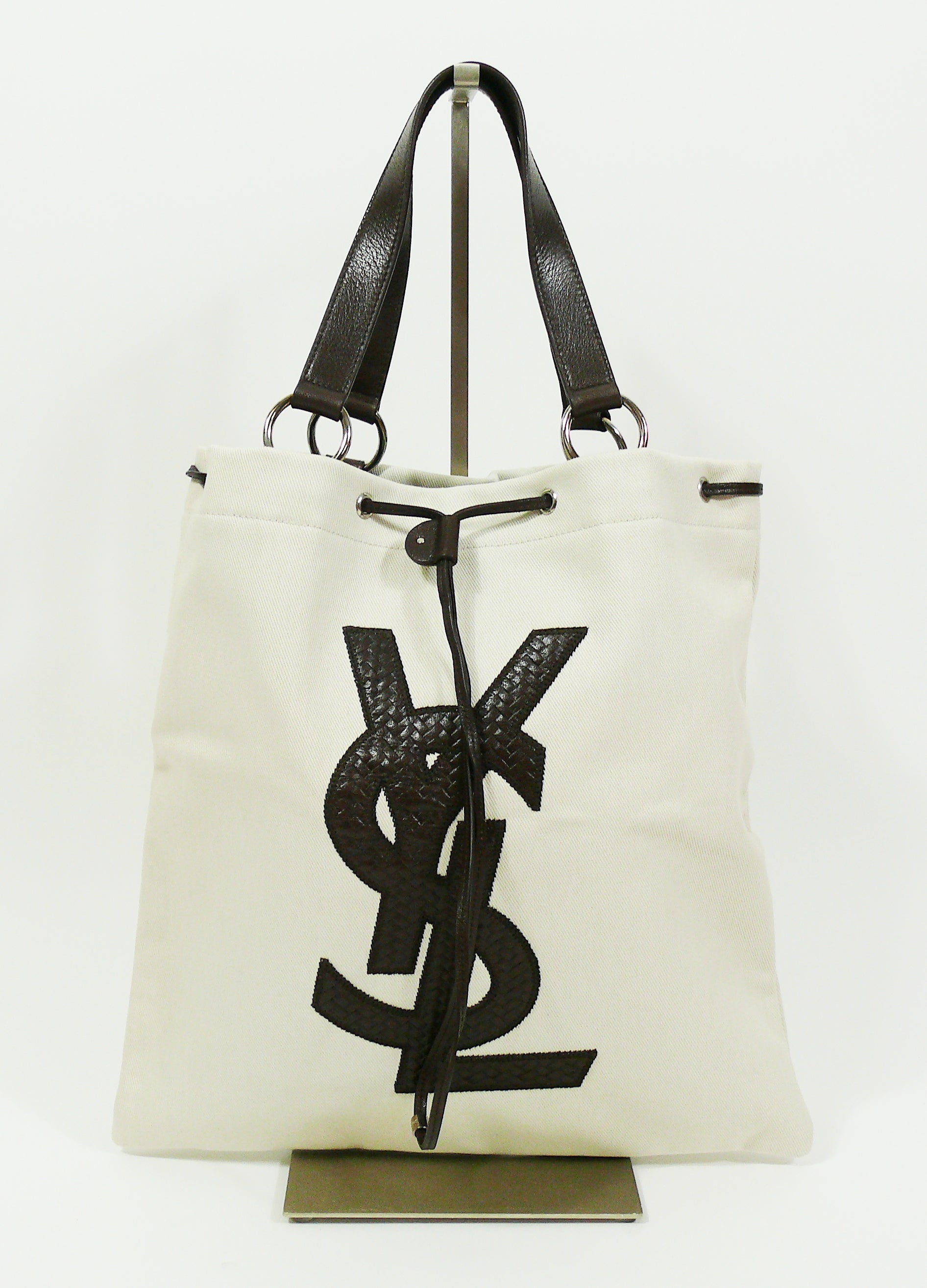 Yves Saint Laurent Canvas YSL Tote Bag at 1stdibs 3151117191e75