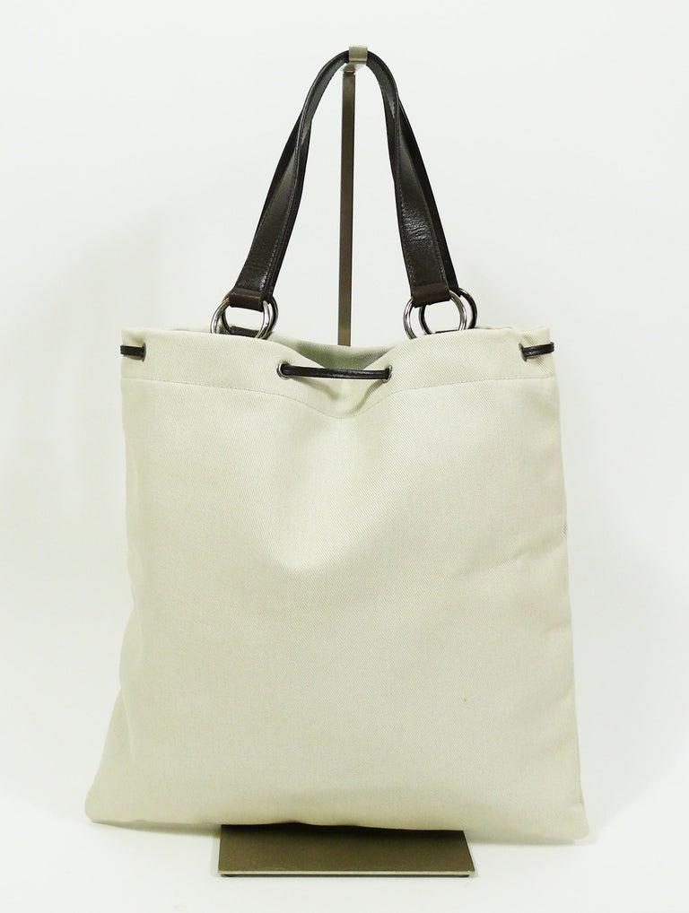 Yves Saint Laurent Canvas Ysl Tote Bag At 1stdibs