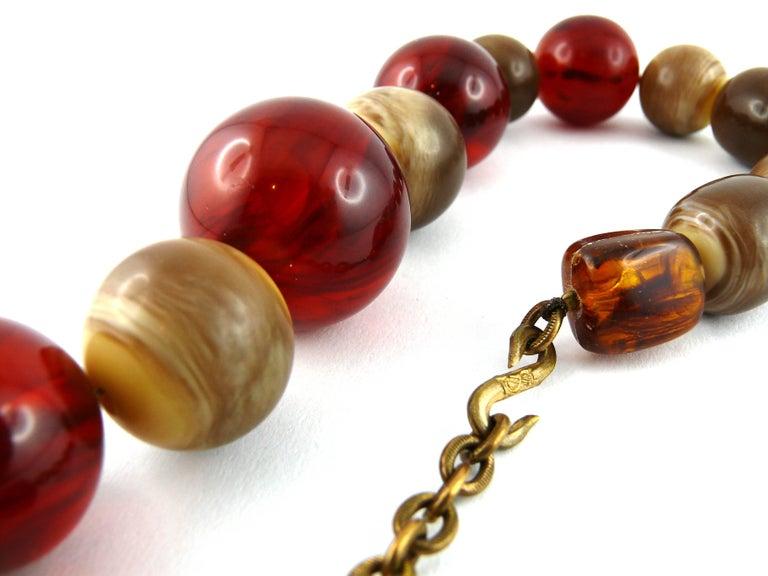 Yves Saint Laurent YSL Vintage 1970s Ball Necklace For Sale 8
