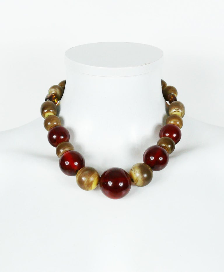 Yves Saint Laurent YSL Vintage 1970s Ball Necklace In Excellent Condition For Sale In Nice, FR