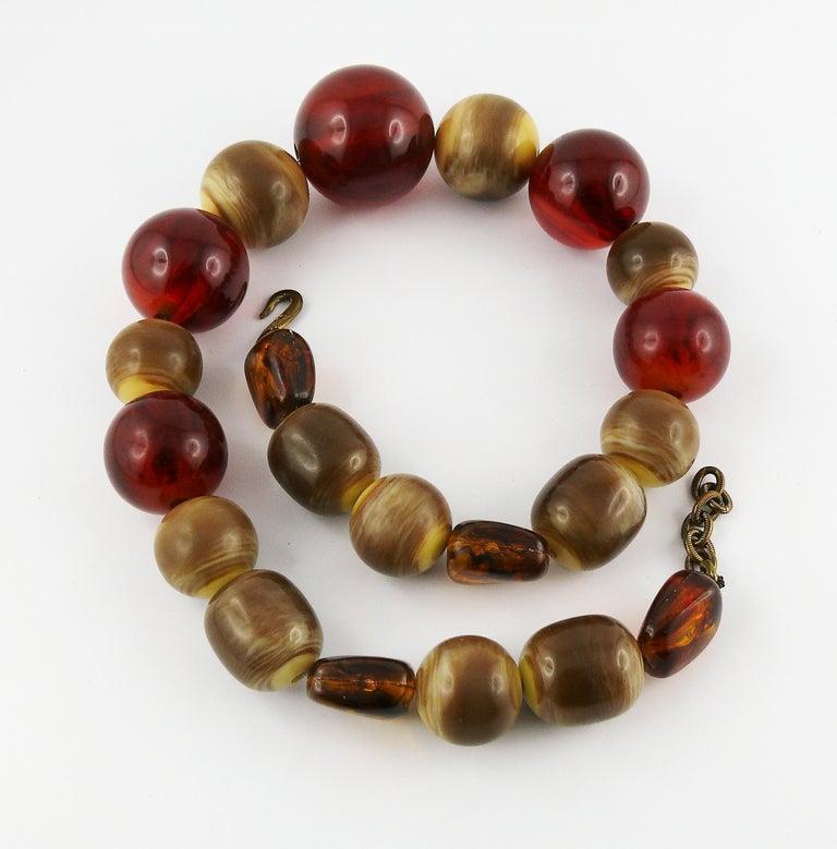 Women's Yves Saint Laurent YSL Vintage 1970s Ball Necklace For Sale