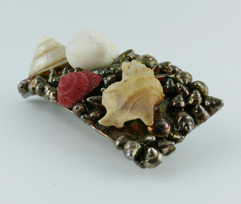 Chantal Thomass Vintage Sea Life Hair Barrette In Good Condition For Sale In French Riviera, Nice