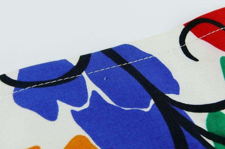 Yves Saint Laurent YSL Vintage Matisse Inspired Floral Cotton Sash Skirt For Sale 6