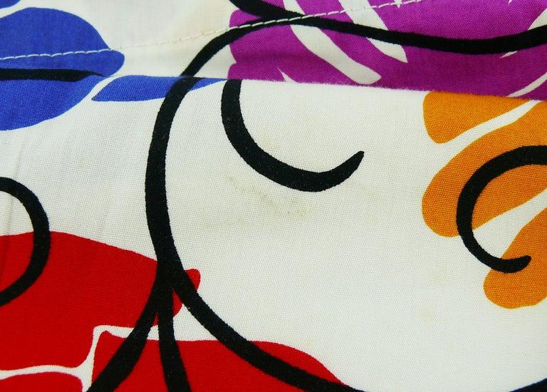 Yves Saint Laurent YSL Vintage Matisse Inspired Floral Cotton Sash Skirt For Sale 10