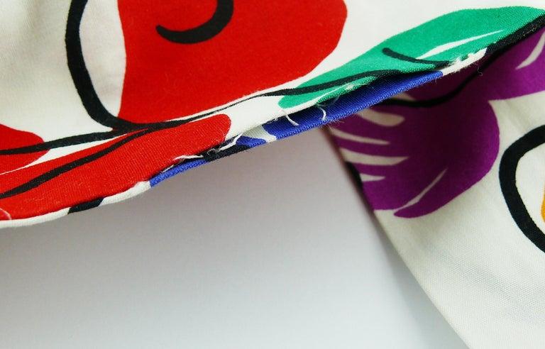 Yves Saint Laurent YSL Vintage Matisse Inspired Floral Cotton Sash Skirt For Sale 15