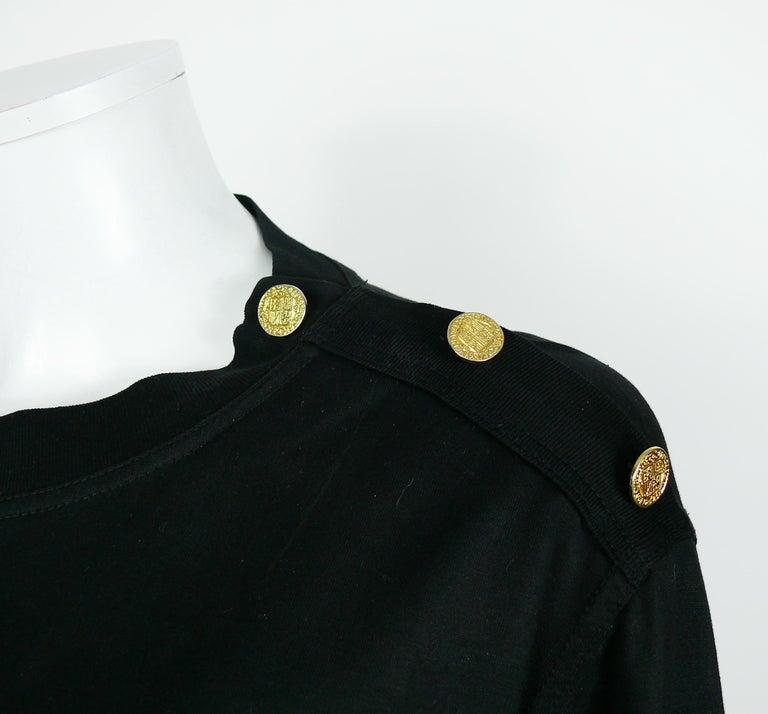 Yves Saint Laurent YSL Vintage Signature Black Top   For Sale 1