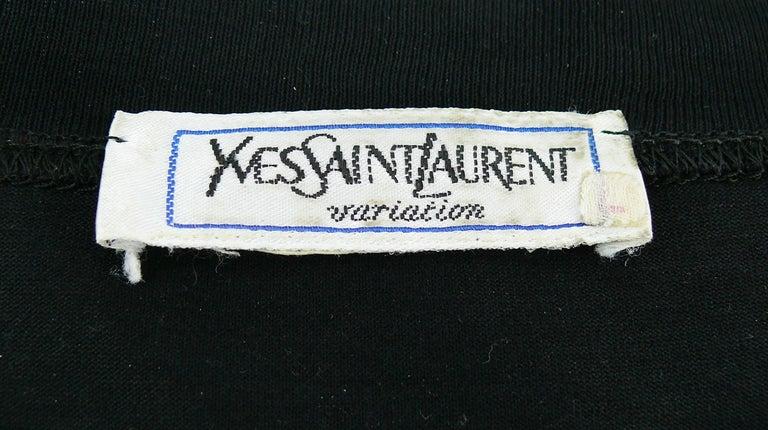 Yves Saint Laurent YSL Vintage Signature Black Top   For Sale 4