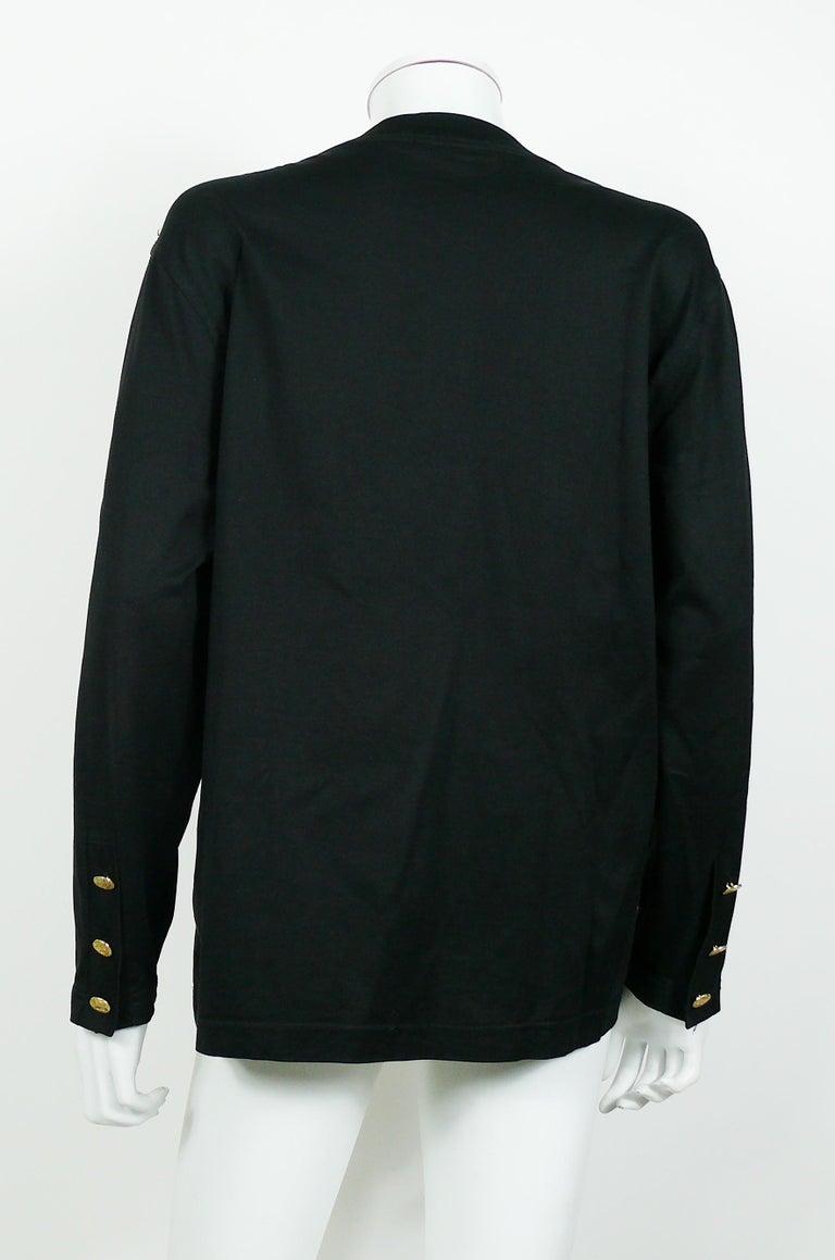 Yves Saint Laurent YSL Vintage Signature Black Top   For Sale 2