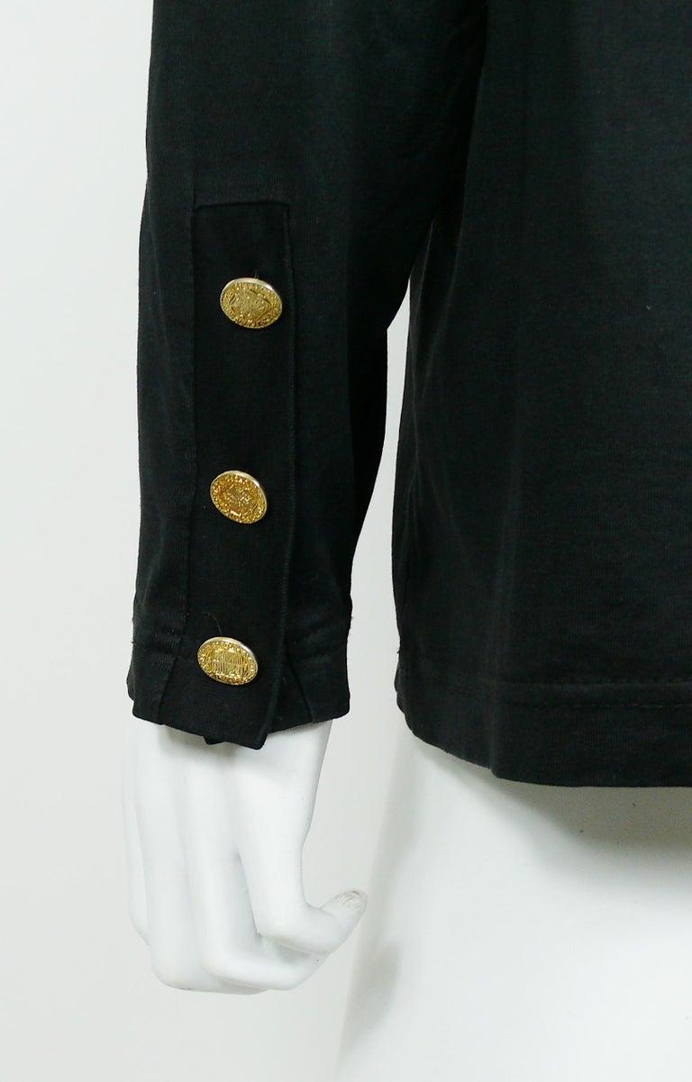 Yves Saint Laurent YSL Vintage Signature Black Top   For Sale 3