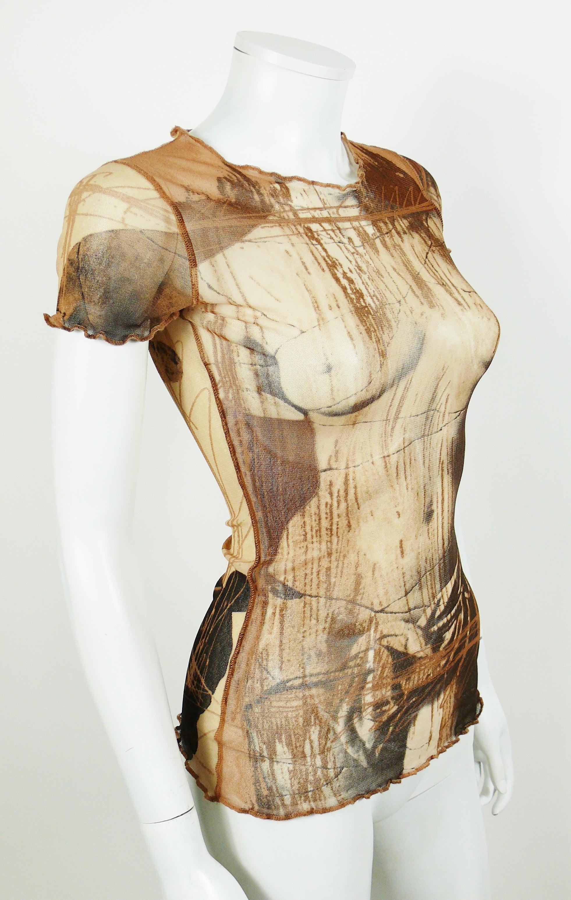 c11c9b29dcc Jean Paul Gaultier Vintage Venus de Milo Sheer Mesh Top at 1stdibs