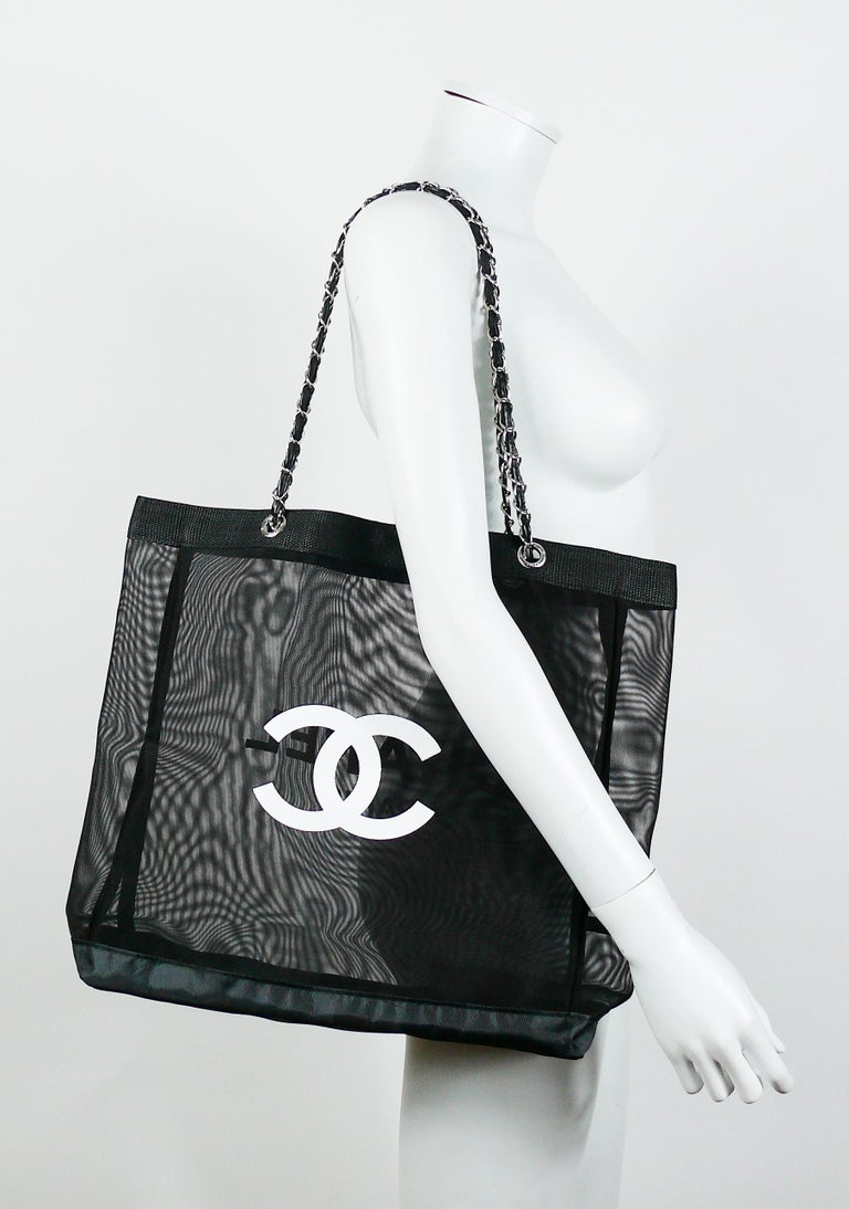 Chanel Mesh Tote Shopping Gift Bag At 1stdibs