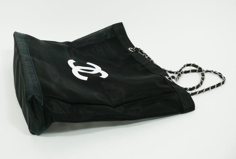eda7c597f9de Chanel Mesh Tote Shopping Gift Bag For Sale 4