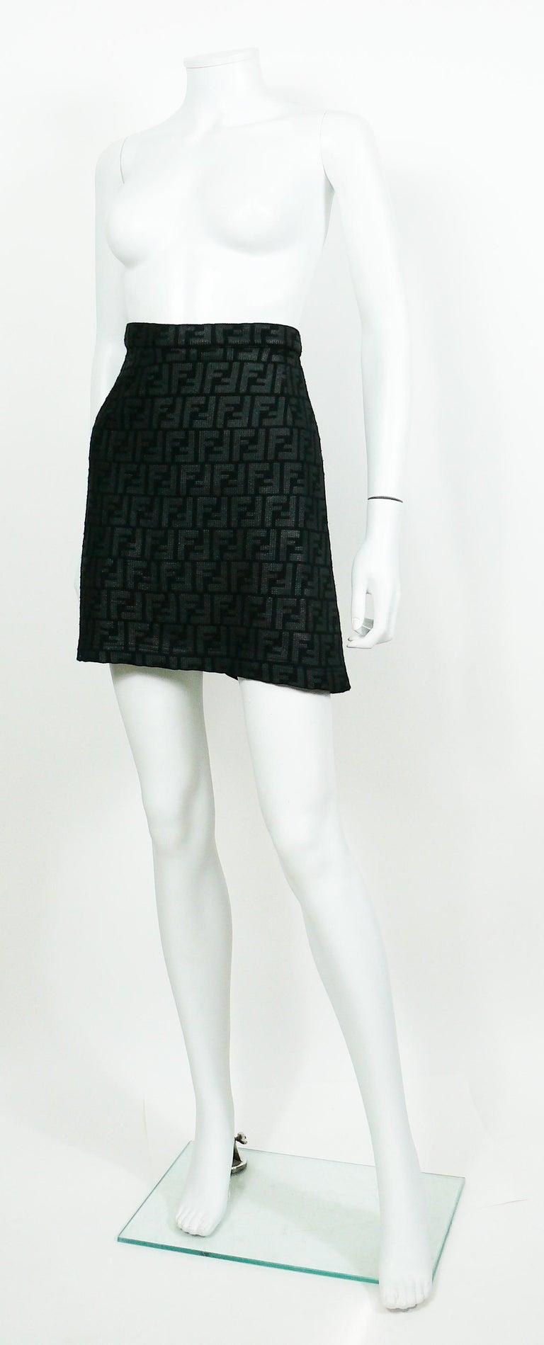 Fendi All Over Logo Skirt For Sale 1