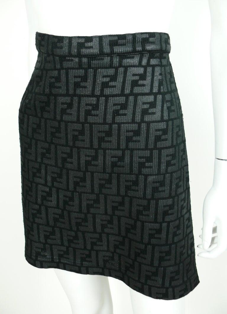 Women's Fendi All Over Logo Skirt For Sale
