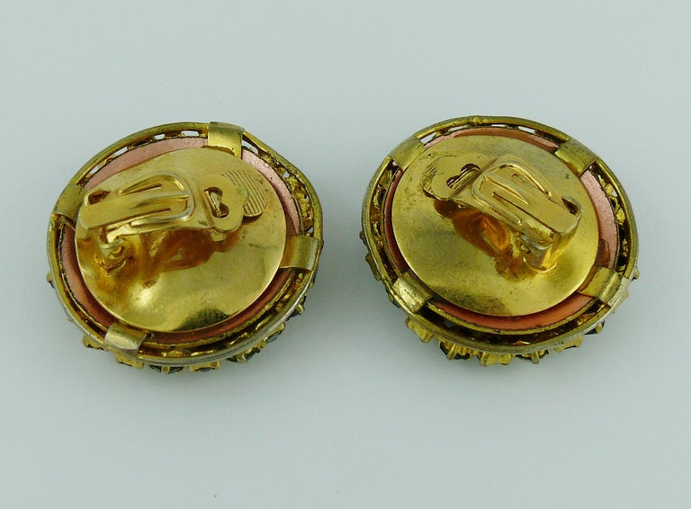 Christian Dior Vintage Jewelled Clip-On Earrings 1960s For Sale 2
