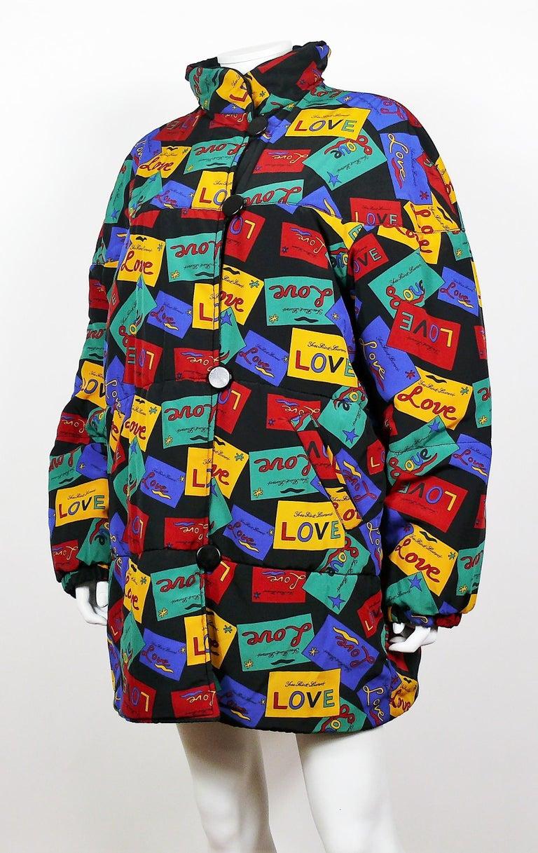 Women's Yves Saint Laurent Vintage Oversized Love Coat For Sale