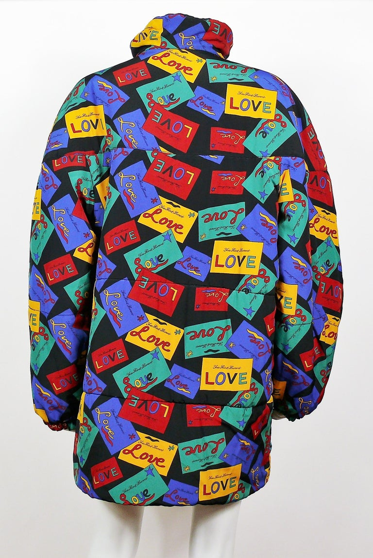 Yves Saint Laurent Vintage Oversized Love Coat For Sale 1