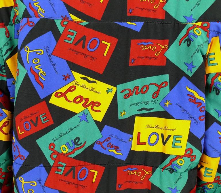 Yves Saint Laurent Vintage Oversized Love Coat For Sale 2