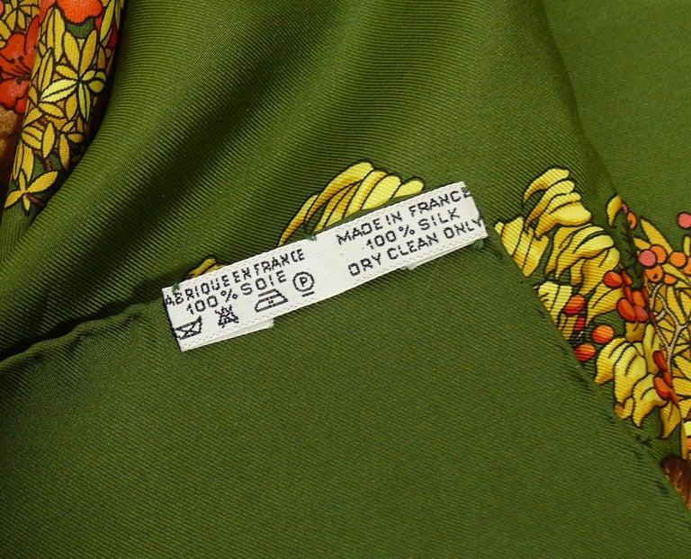 Women's Hermes Vintage Silk Carre Scarf Les Beaux Jours de Bonsai by Catherine Baschet For Sale