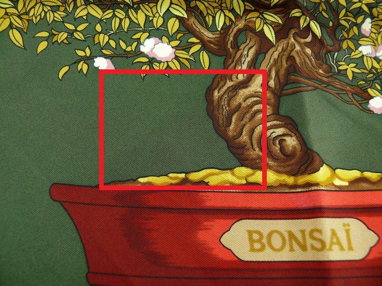Hermes Vintage Silk Carre Scarf Les Beaux Jours de Bonsai by Catherine Baschet For Sale 5